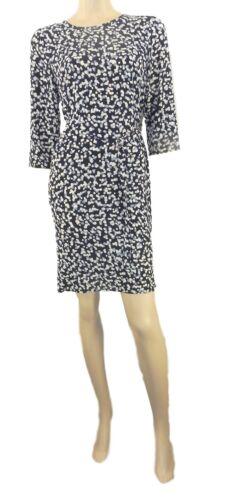 Marks Spencer Blue Print /& Crepe semplice tunica Turno ORIG prezzo £ 39