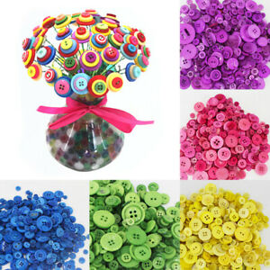 Lots-200pcs-Round-Resin-Buttons-4-Holes-For-Apparel-Sewing-Scrapbook-DIY-Crafts