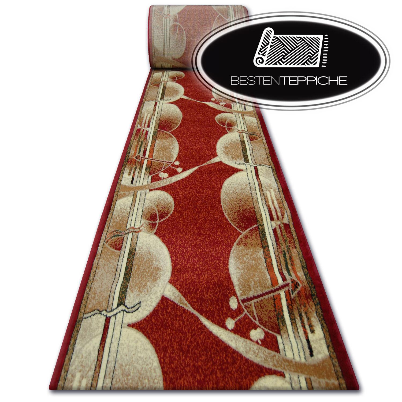 Spessa Moderno Runner Primo Rosso - Ruote Larghezza 70 - 140 cm Alla Moda