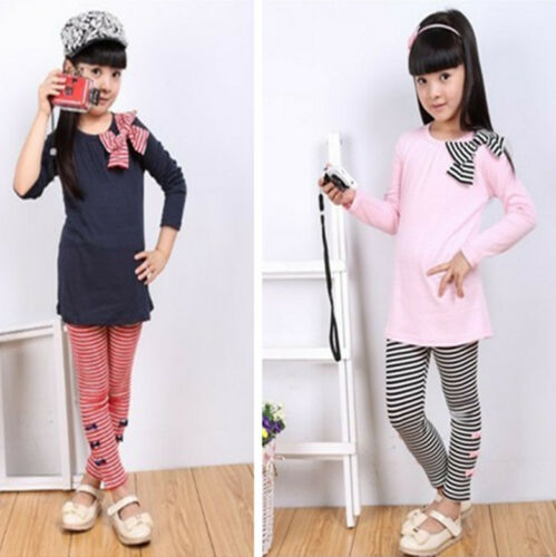 New long Sleeve T shirt Legging set for girls 2-7Yrs