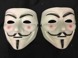 2-X-ANONYMOUS-V-FOR-VENDETTA-GUY-FAWKES-HALLOWEEN-FACE-MASK-FANCY-DRESS