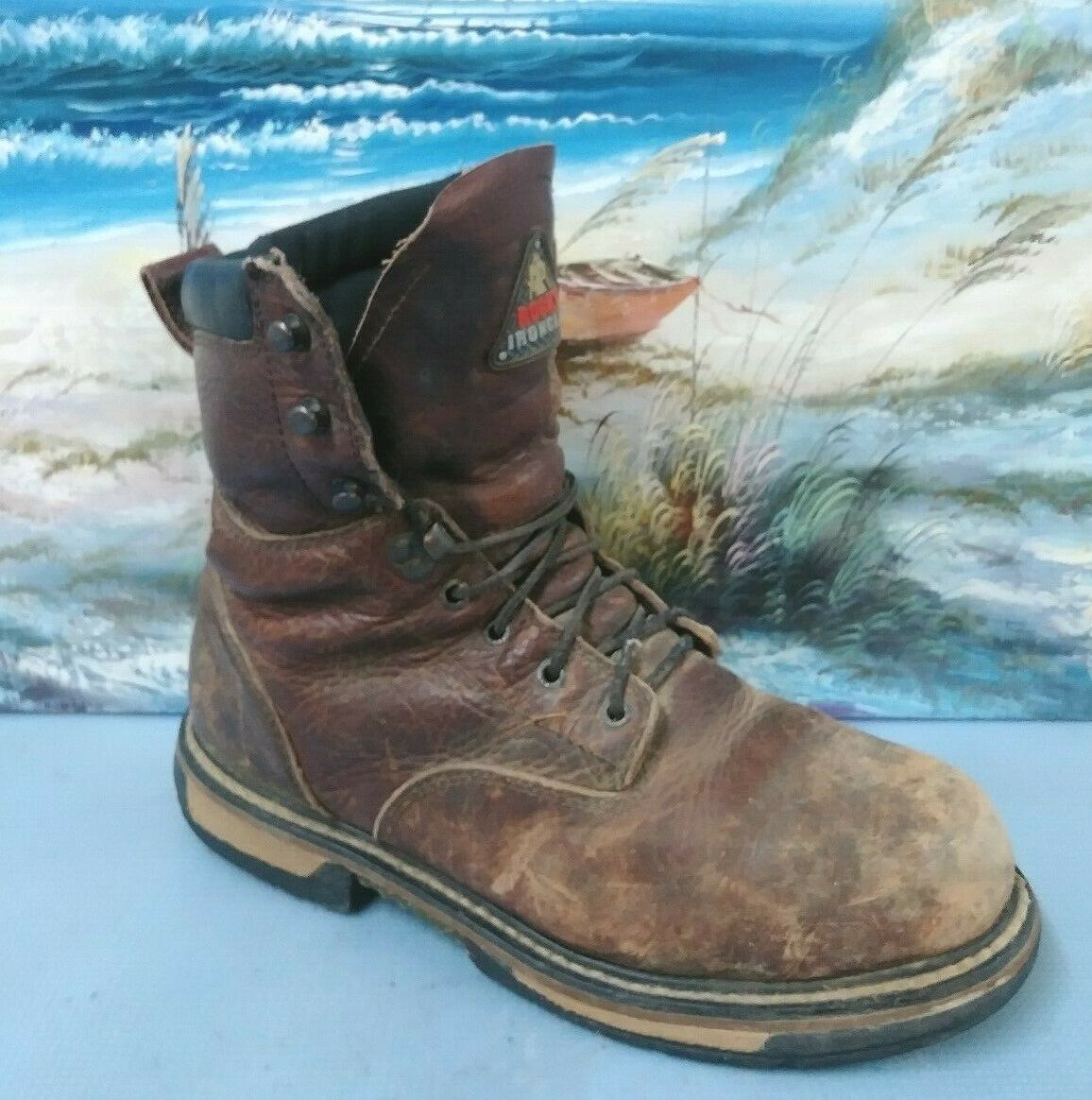 Rocky Men's 8  Ironclad Brown Waterproof Steel Toe 6694 Thinsulate  SIZE 11 W