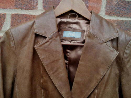 Eu 8 36 Size Uk Brown Jacket Ladies Leather Wallis w04Tpa