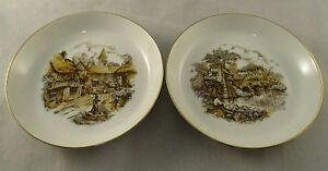 Vintage-Retro-ASL-Stoke-on-Trent-Miniature-Plates-Village-Pastoral-Scenes