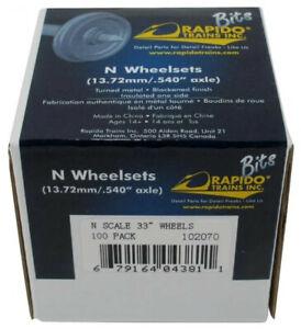 N-Rapido-Bits-102070-33-034-Metal-Wheelsets-Pkg-of-100-Bulk