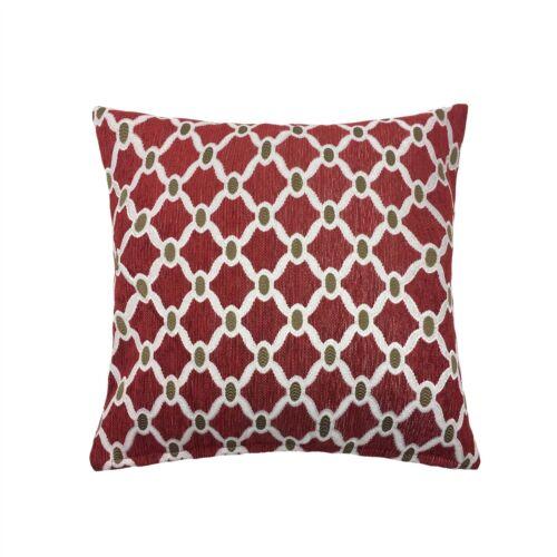 """45 cm Coussins 2 x rempli Marocain-Style Chaîne Lien Rouge CHENILLE TISSÉ 18/"""""""