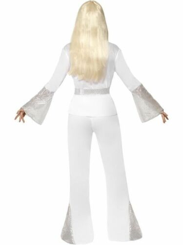 Ladies 70s Disco Lady Fancy Dress Costume 1970s 70/'s Outfit by Smiffys