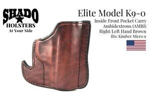 SHADO-Leather-Holster-USA-Elite-Model-K9-0-AMBI-Pocket-Holster-BRN-Kimber-Micro