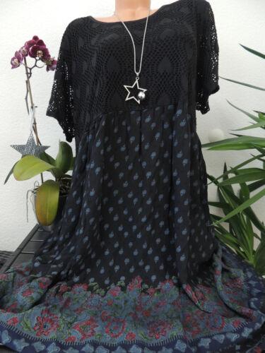 Damen Kleid Größe 46 48 50 52 54 Übergröße Kleider Maxikleid Blumen Spitze 100