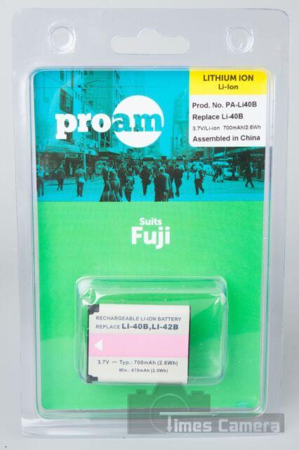 5x ProAm PA-Li40B Battery For Fujifilm  FinePix J10, Finepix J100, Finepix J110W