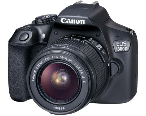 1 von 1 - Canon EOS 1300D 18.0MP Digitalkamera - Schwarz (Kit mit EF-S IS II 18-55mm Objek