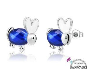Orecchini-argento-925-e-Swarovski-blu-punto-luce-donna-ragazza-SWORBL-012