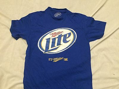 MillerCoors Miller Lite It's Miller Time Logo Beer Alcohol Classic T Shirt M-2X