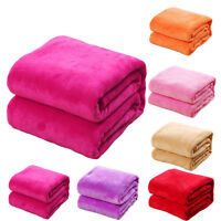 Warm Microplush Throw Blankets Rug Plush Fleece Move Bed Decor Comforble Cosy