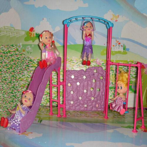 Set Attrezzature Plastica Da Parco Giochi Per Bambini Accessori Kelly Dolls