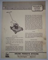 Bolens 464S-01 Self Propelled Push Lawn Mower Operators Owners Parts List Manual