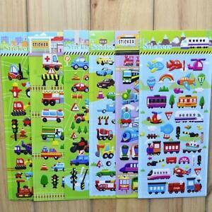 3D-Stickers-School-Reward-Bus-Scrapbooking-Car-Gifts-Kids-Cartoon-Toy-B1S4