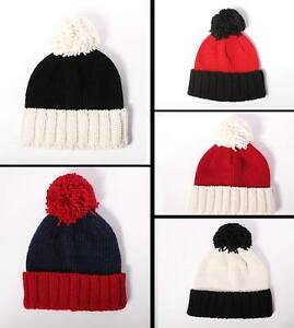 9ee1930b8c8 Mens Womens Chunky Knit Ribbed Turn Up Beanie Hat. Acrylic   British ...