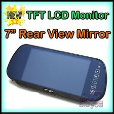 "7"" CAR LCD TFT Bluetooth USB MP3 MP4 MP5 PLAYER REAR VIEW MIRROR MONITOR TOUCH"