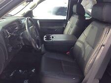 2010 2013 Gmc Sierra Crew Cab Katzkin Black Leather Seat Covers Kit Ebony Match