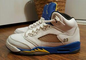 best loved a417f cc294 Image is loading Nike-Air-Jordan-5-V-Retro-GS-Laney-