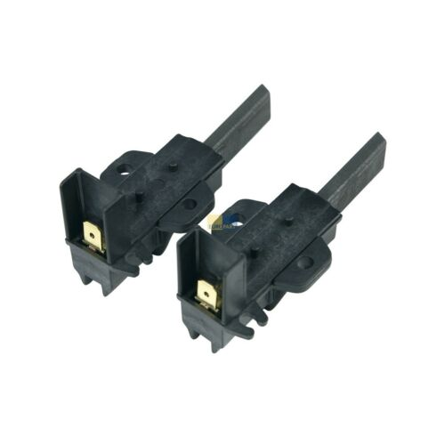 Carbone Carbone Motore Completo 6,3mm amp LAVATRICE ORIGINALE CANDY HOOVER 49028928