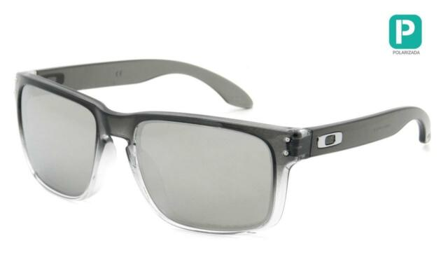 4d866977537e80 New Oakley Holbrook POLARIZED Retro Sunglasses Dark Ink Chrome Iridium  Mirror