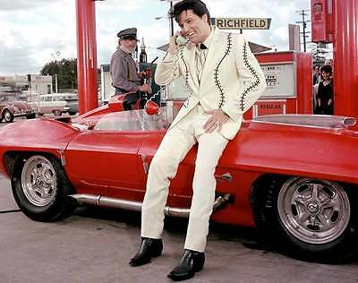 Elvis Presley Red Corvette 8x10 Photo 064
