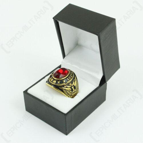 US Service Ring Army Bijoux en acier inoxydable rouge militaire pour hommes