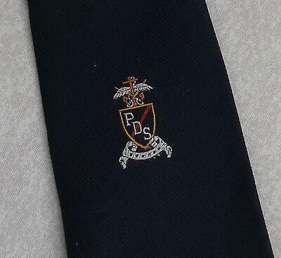 100% Vero Vintage Cravatta Da Uomo Cravatta Scudo Crested Club Associazione Società College Ds-mostra Il Titolo Originale Ampie Varietà