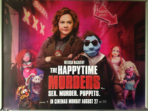 Details About Cinema Poster Happytime Murders The 2018 Alley Quad Melissa Mccarthy