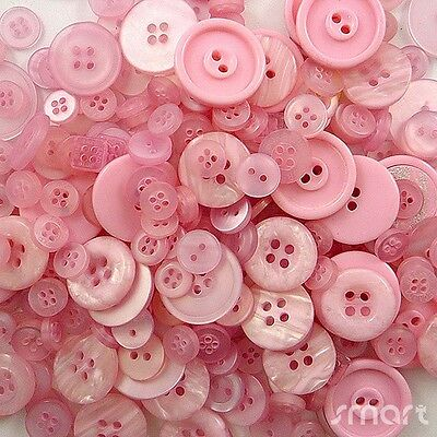 50pcs Assorted Bulk White Theme Round Resin Buttons Lot Craft Sewing Scrapbook