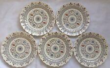 "5 Vintage Copeland Spode Florence Dinner Plates 10.5"" Diameter"