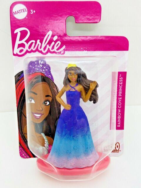 "Mattel Barbie Dreamtopia Rainbow Cove Princess African 3"" Cake Topper Micro Col."
