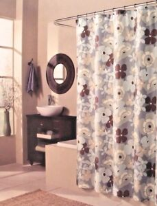 Image Is Loading M Style Pop Art Garden Floral Fabric Shower
