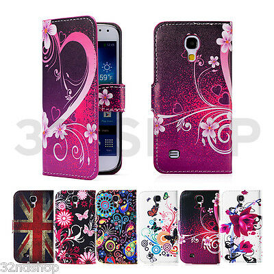 PU LEATHER Wallet CASE COVER FOR SAMSUNG GALAXY S4 MINI i9190 SCREEN PROTECTOR