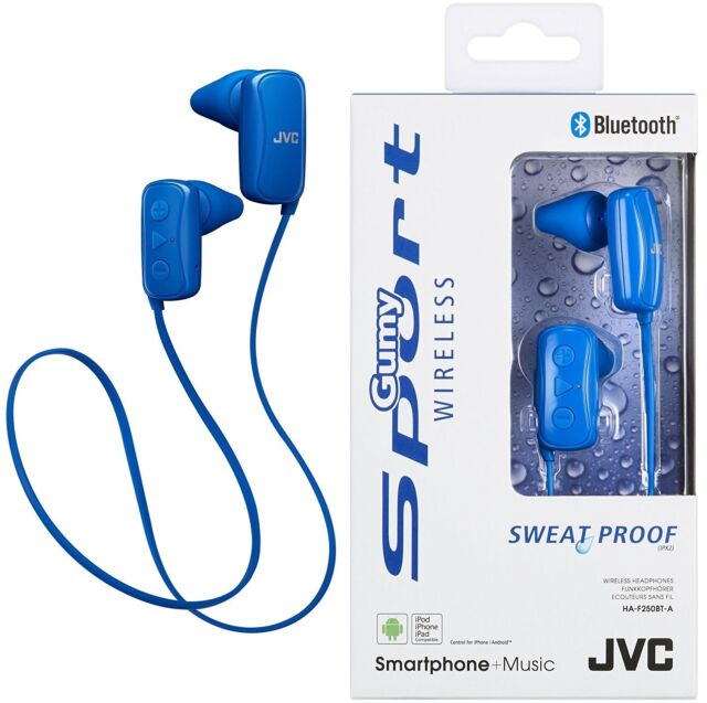 378dbeccd6e JVC HA-F250BT BLUE Sports Bluetooth In Ear Headphone Original /Brand New