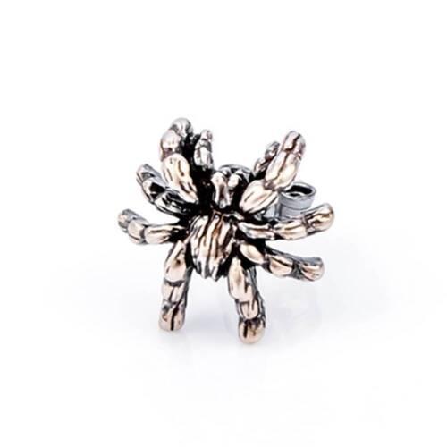Femmes Stud Vintage 92.5/% Spider Tarantula Gothique Punk Retro Hommes Boucles d/'oreilles argent