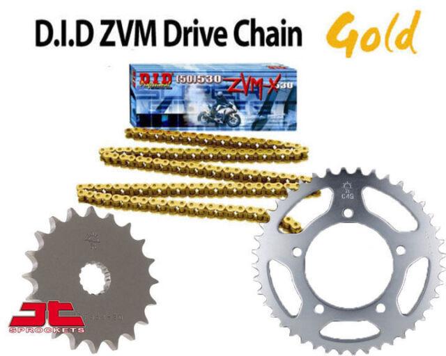 YAMAHA FAZER 1000 CHAIN AND SPROCKET KIT 01-05 HEAVY DUTY GOLD X-RING