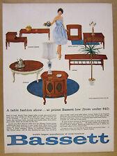 1962 Bassett Furniture mid-century Tables by Leo Jiranek vintage print Ad