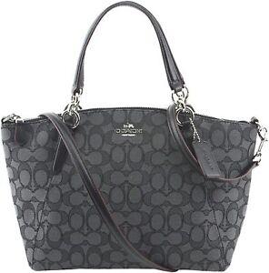 652fdfe85534 Coach F57830 Mini Kelsey Satchel in Outline Signature Crossbody Bag Black