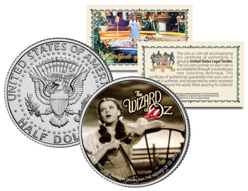 JFK Half Dollar US Coin OFFICIALLY LICENSED WIZARD OF OZ Over the Rainbow