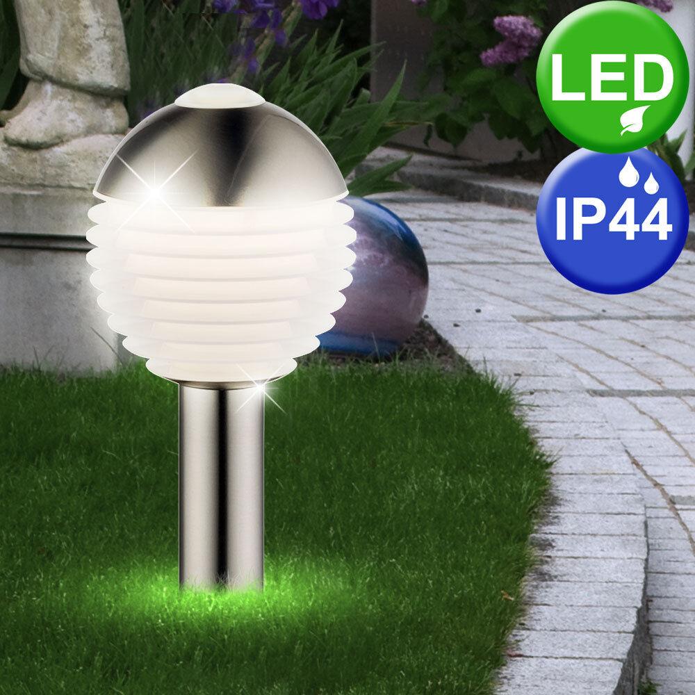 Diseño Led Exterior de Pie Zócalo Luz Luz Zócalo Hof Terraza Stand Bola Lámpara Sensor 8c8b71