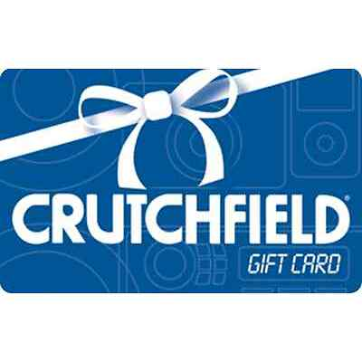 Crutchfield Gift Card - $25 $50 $100 - Email delivery