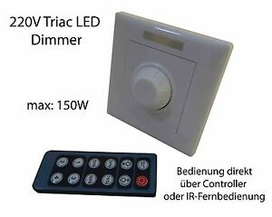 230v led dimmer schalter controller fernbedienung f dimmbare led leuchtmittel. Black Bedroom Furniture Sets. Home Design Ideas