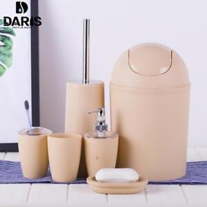 Details About Plastic Bathroom Accessories Set Wash Suit Shell Bath Tumbler Toothbrush New