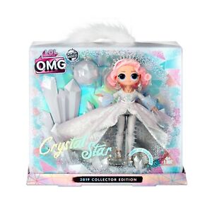 LOL-Surprise-OMG-CRYSTAL-STAR-2019-Collector-Doll-Winter-Disco-Glitter-NEW
