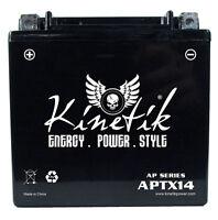 Kinetik 12v 12ah Battery For Honda 450 Trx450 Fourtrax Foreman S, Es 1998-04 on sale