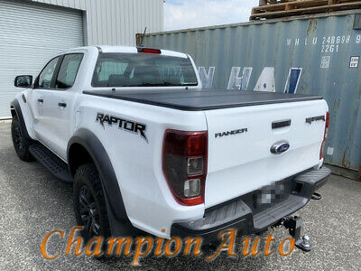 Tri Fold Hard Top Hard Lid Tonneau Cover Aluminium For Ford Ranger Raptor 2018 Ebay