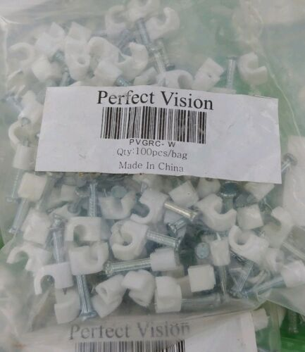 4 BAGS Perfect Vision #PVGRC-W Ground Wire Clips with Nail 100x4